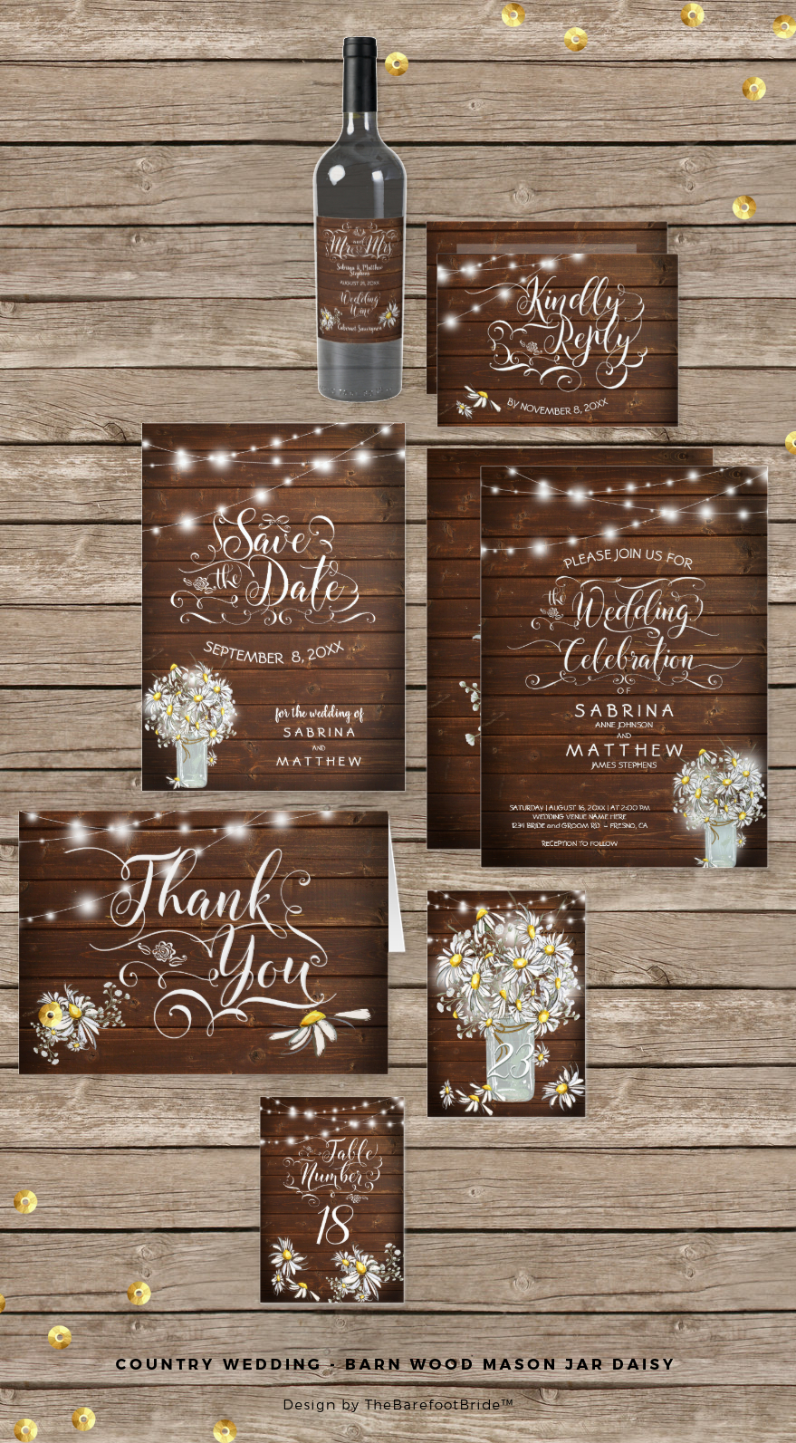 Country Wedding Stationery Suite – Country Farm and Pets
